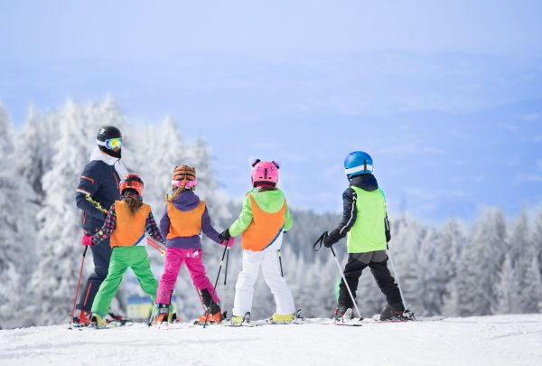 Ski Area Instructor with Students